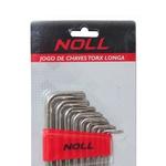 Jogo de Chaves Torx Longas 10 peças T9 a T50 374,0007 NOLL