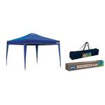 Tenda Gazebo Oxford com Silvercoating Azul (3m x 3m) - MOR