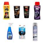 Kit Lava Autos + Limpa Pneus + Sili. Gel + Odori. Breeze + Limpa Vidros + Limpa Ar Condic. + Limpa Couro