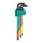 Jogo De Chave Allen Longa Em Milímetro De 1.5 A 10 mm Colorida ST09107CHBSJ - Sata