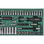 Jogo de Soquetes Sextavados 1/4'' 66 peças (3,5mm à 14mm) Sata