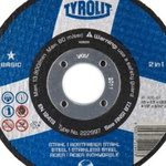 Combo Disco de Corte 2 Telas 4.1/2'' x 3/32'' x 7/8'' - Basic 2in1 - 222997 - TYROLIT