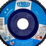 Combo Disco de Lixa Flap Plano 115mm Grana 40 - Standard 28N - 847917 - TYROLIT