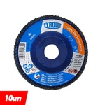 Combo Disco de Lixa Flap Plano 115mm Grana 80 - Basic 28N - 34318570 - TYROLIT