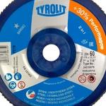 Combo Disco de Lixa Flap Plano 180mm Grana 60 - Basic 28N - 34318579 - TYROLIT