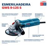 Esmerilhadeira Angular de 5'' Bosch GWS 9-125 S 900W 220V