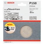 Disco de Lixa Bosch M480 Best for Wood & Paint; 125mm G150 Pacote com 5 unidades