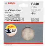 Disco de Lixa Bosch M480 Best for Wood & Paint; 125mm G240 Pacote com 5 unidades
