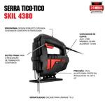 Serra Tico-Tico Skil 4380 380W 127V, com 1 Lâmina