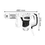 Martelo Demolidor 1100W e até 7,5J GSH 5 - Bosch 220V