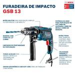 Furadeira de Impacto Bosch GSB 13 RE 650W