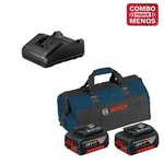 Kit Bosch Furadeira/Parafus + Chave Impacto + 2 Baterias 18V + Maleta - Bosch