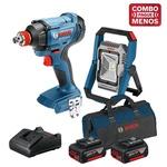 Kit Bosch Chave de Impacto + Lanterna + 2 Baterias 18V + Maleta - Bosch