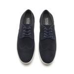 Sapato Masculino Brogue Azul Blue Hole