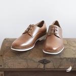 Sapato Masculino Derby Conhaque Auckland