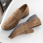 Sapato Masculino Loafer Kaki Manly