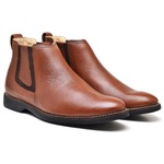 Bota Chelsea Masculina TO Couro Floater Mogno