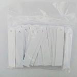 50 etiquetas BRANCAS (placas) identificadoras de plantas