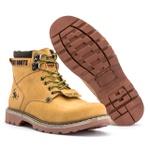 Bota Masculina Tratorada Jhon Boots Marrom Amarelado