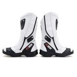 Bota Motociclista Pro Max cano alto de couro branca