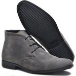 Bota Rota Shoes Masculina Em Couro Camurça Cinza