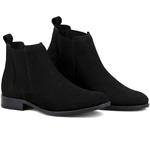 Botina Chelsea Boots Preta couro legítimo