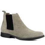 Bota Chelsea Boots Cinza Urban couro legítimo