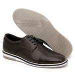 Sapato Masculino Oxford Esporte Fino Alpha em Couro Nobre Café