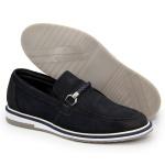 Sapato Masculino Oxford Esporte Fino Alpha em Couro Nobre Nobuck Marinho