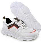 Tênis Chunky Sneaker Masculino Tracker Em Couro Branco Plume