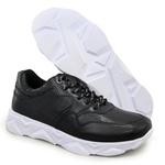 Tênis Chunky Sneaker Masculino Tracker Em Couro Black
