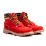 Bota Masculina Tratorada Jhon Boots Vermelha
