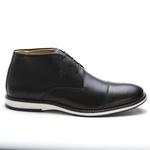 Sapato Brogue Amsterdã Cano Alto Raphaello Footwear Couro Legítimo Black