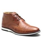 Sapato Brogue Amsterdã Cano Alto Raphaello Footwear Couro Legítimo Caramelo