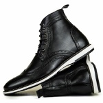 Bota Brogue Couro Legítimo Raphaello Footwear Texas Preta