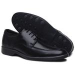 Sapato Social Masculino Preto Confortável Solado em Borracha Preto