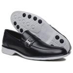 Sapato Social Masculino Preto Confortável Solado em Borracha Cinza