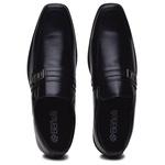 Sapato Social Masculino Confortável Solado em Borracha Preto