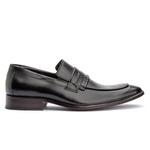 Sapato Couro Premium Loafer Gravata Premium Masculino Preto