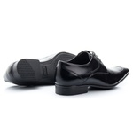 Sapato Social Premium Derby Masculino Solado em Borracha Preto