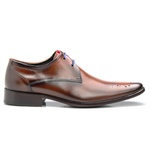Sapato Social Masculino Premium Solado em Couro Cromo Orange