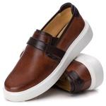 Loafer Iate Masculino Premium Couro Legítimo Castor