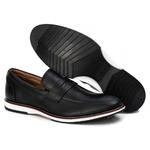 Loafer Esporte Fino Tchwm Shoes em Couro Legitimo Preto