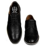Sapato Masculino Brogue Couro Legítimo Preto