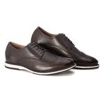 Sapato Masculino Oxford Brogue Couro Legítimo Café