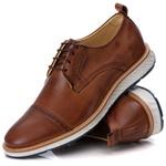 Sapato Brogue Masculino Esporte Fino em Couro Legitimo Castor