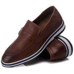 Loafer Esporte Fino Tchwm Shoes em Couro Legitimo Café