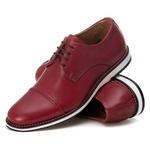 Sapato Brogue Premium em Couro Confort Tchwm Shoes Bordo