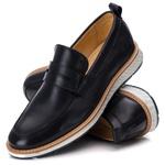 Sapato Masculino Loafer Premium em Couro Legitimo Preto