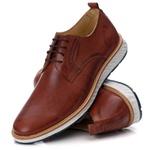 Sapato Masculino Derby Elite em Couro Legítimo Havana